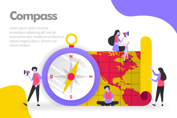 Download Free Compass And Maps Illustration Concept Graphic By Setiawanarief111 Creative Fabrica for Cricut Explore, Silhouette and other cutting machines.