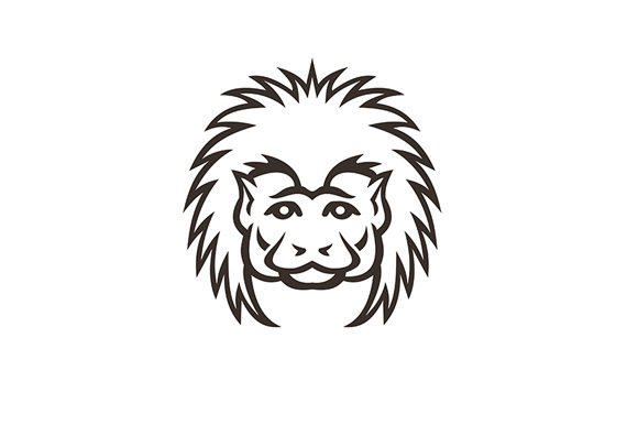 Download Free Cotton Top Tamarin Monkey Head Mascot Graphic By Patrimonio for Cricut Explore, Silhouette and other cutting machines.