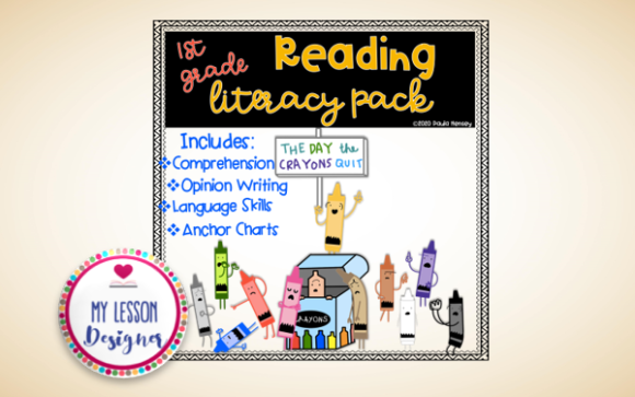 The Day the Crayons Quit Literacy Pack Graphic 1st grade By My Lesson Designer