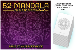 Print on Demand: 52 Mandala Coloring Sheets E-Book Graphic Coloring Pages & Books By gentlemancrafter