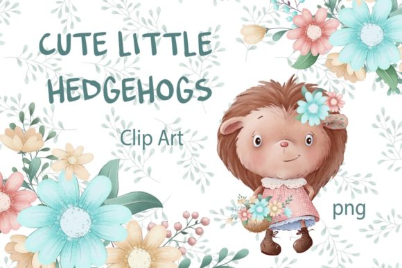 Print on Demand: Cute Little Hedgehogs Graphic Illustrations By nicjulia