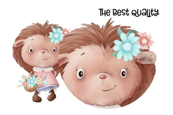 Print on Demand: Cute Little Hedgehogs Graphic Illustrations By nicjulia - Image 3