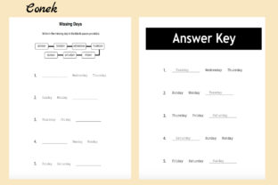 Days of the Week Activity Worksheets Graphic K By CK Treasures