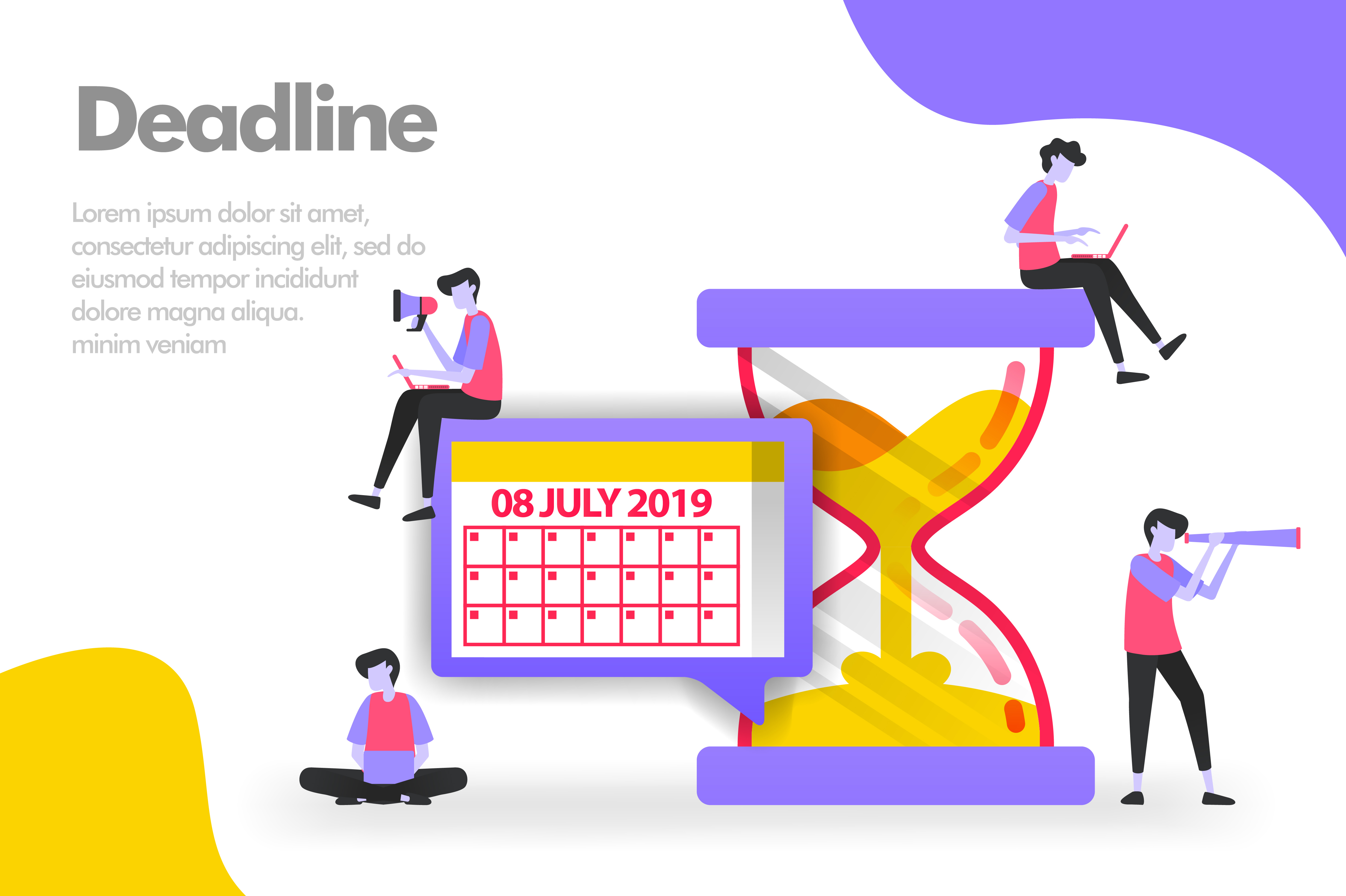Download Free Deadline Illustration Concept Graphic By Setiawanarief111 for Cricut Explore, Silhouette and other cutting machines.