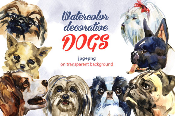 Decorative Dogs Cliparts Graphic Illustrations By NataliMyaStore - Image 1