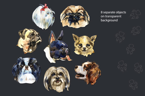 Decorative Dogs Cliparts Graphic Illustrations By NataliMyaStore - Image 3