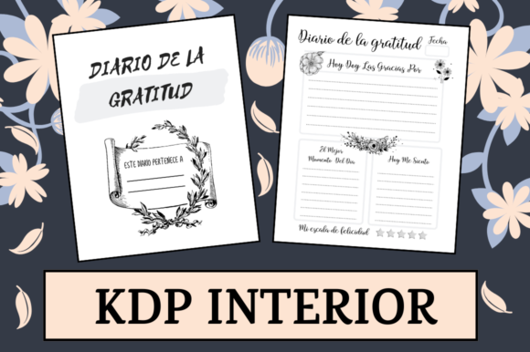 Download Free Diario De La Gratitud Kdp Interior Graphic By Hungry Puppy for Cricut Explore, Silhouette and other cutting machines.