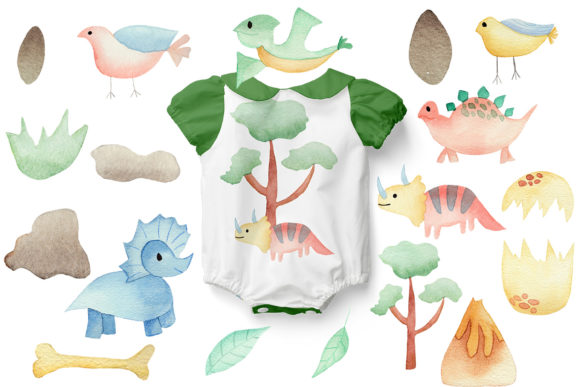 Download Free Dino Land Nursery Collection Graphic By Andreea Eremia Design for Cricut Explore, Silhouette and other cutting machines.