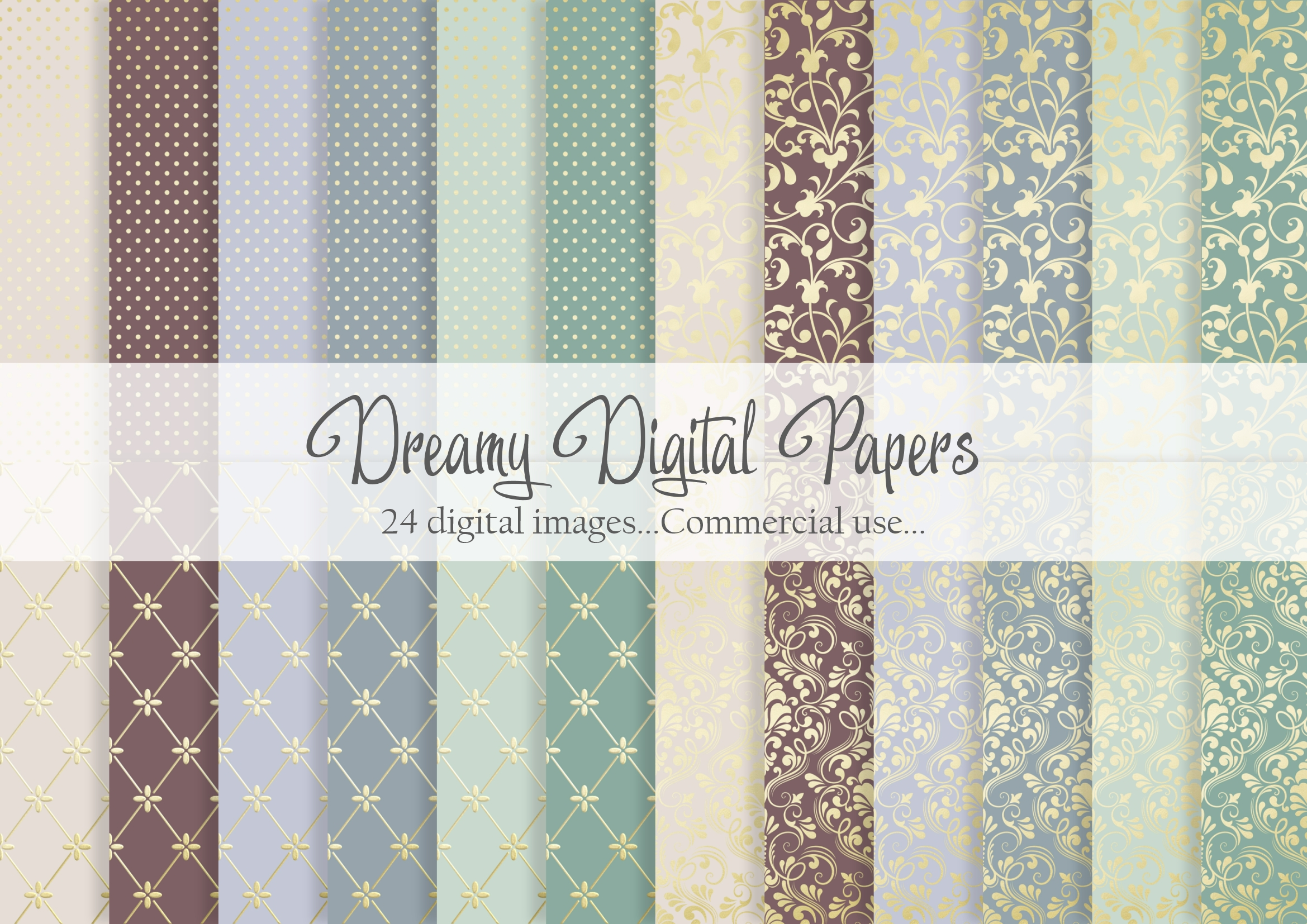 Download Free Dreamy And Soft Gold Digital Paper Graphic By Simply Paper Craft for Cricut Explore, Silhouette and other cutting machines.