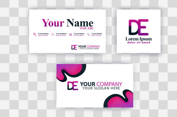 Download Free Ed Letter Logo Business Card Template Graphic By for Cricut Explore, Silhouette and other cutting machines.