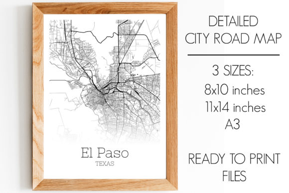 Download Free El Paso Texas City Map Graphic By Svgexpress Creative Fabrica for Cricut Explore, Silhouette and other cutting machines.
