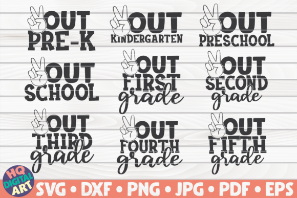 Download Free End Of School Bundle Graphic By Mihaibadea95 Creative Fabrica for Cricut Explore, Silhouette and other cutting machines.