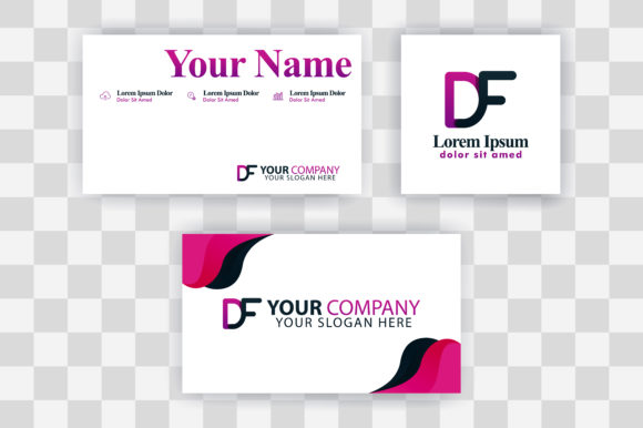 Download Free Fd Letter Logo Business Card Template Graphic By for Cricut Explore, Silhouette and other cutting machines.