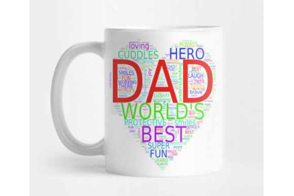 Fathers Day Dad Word Art Graphic