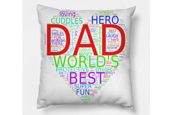 Fathers Day Dad Word Art Graphic Download