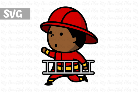 Download Free Firefighter Boy 2 Icon Graphic By Mybeautifulfiles Creative for Cricut Explore, Silhouette and other cutting machines.