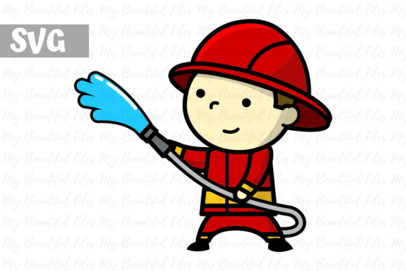 Download Free Firefighter Boy Icon Graphic By Mybeautifulfiles Creative Fabrica for Cricut Explore, Silhouette and other cutting machines.