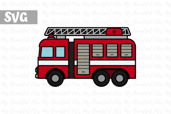 Download Free Firefighter Fire Engine Icon Graphic By Mybeautifulfiles for Cricut Explore, Silhouette and other cutting machines.