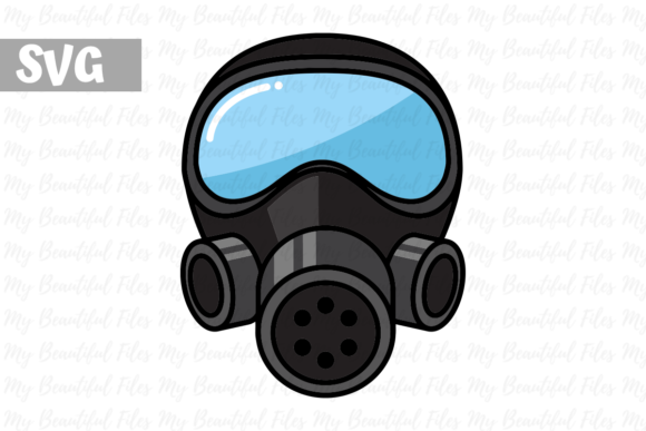 Firefighter Gas Mask Icon Graphic By Mybeautifulfiles