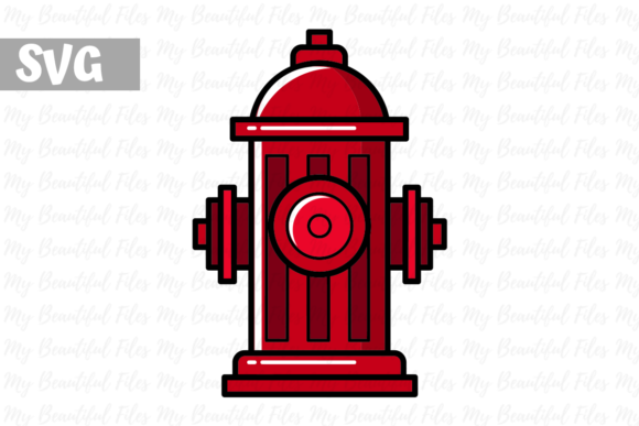 Download Free Firefighter Hydrant Icon Graphic By Mybeautifulfiles for Cricut Explore, Silhouette and other cutting machines.