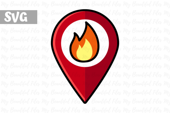 Download Free Firefighter Map Icon Graphic By Mybeautifulfiles Creative Fabrica for Cricut Explore, Silhouette and other cutting machines.