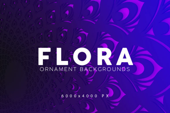 Print on Demand: Flora Gradient Backgrounds Graphic Backgrounds By ArtistMef