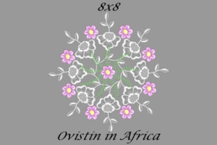 Floral Pink Quilt Block Sewing & Crafts Embroidery Design By Ovistin in Africa