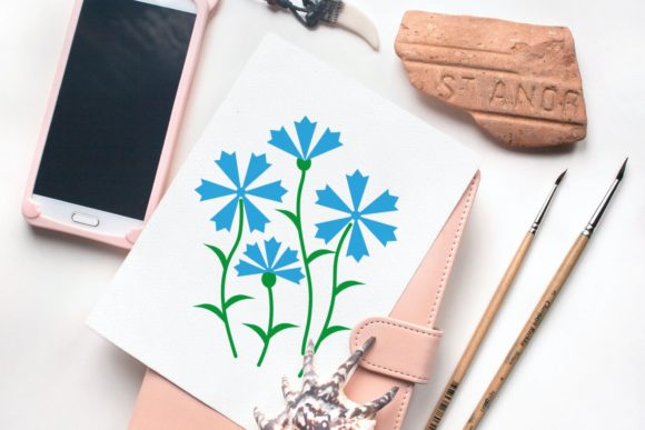 Download Free Cornflowers Graphic By Tanja Dianova Creative Fabrica for Cricut Explore, Silhouette and other cutting machines.