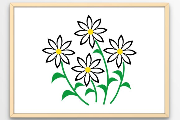Download Free Daisies Graphic By Tanja Dianova Creative Fabrica for Cricut Explore, Silhouette and other cutting machines.