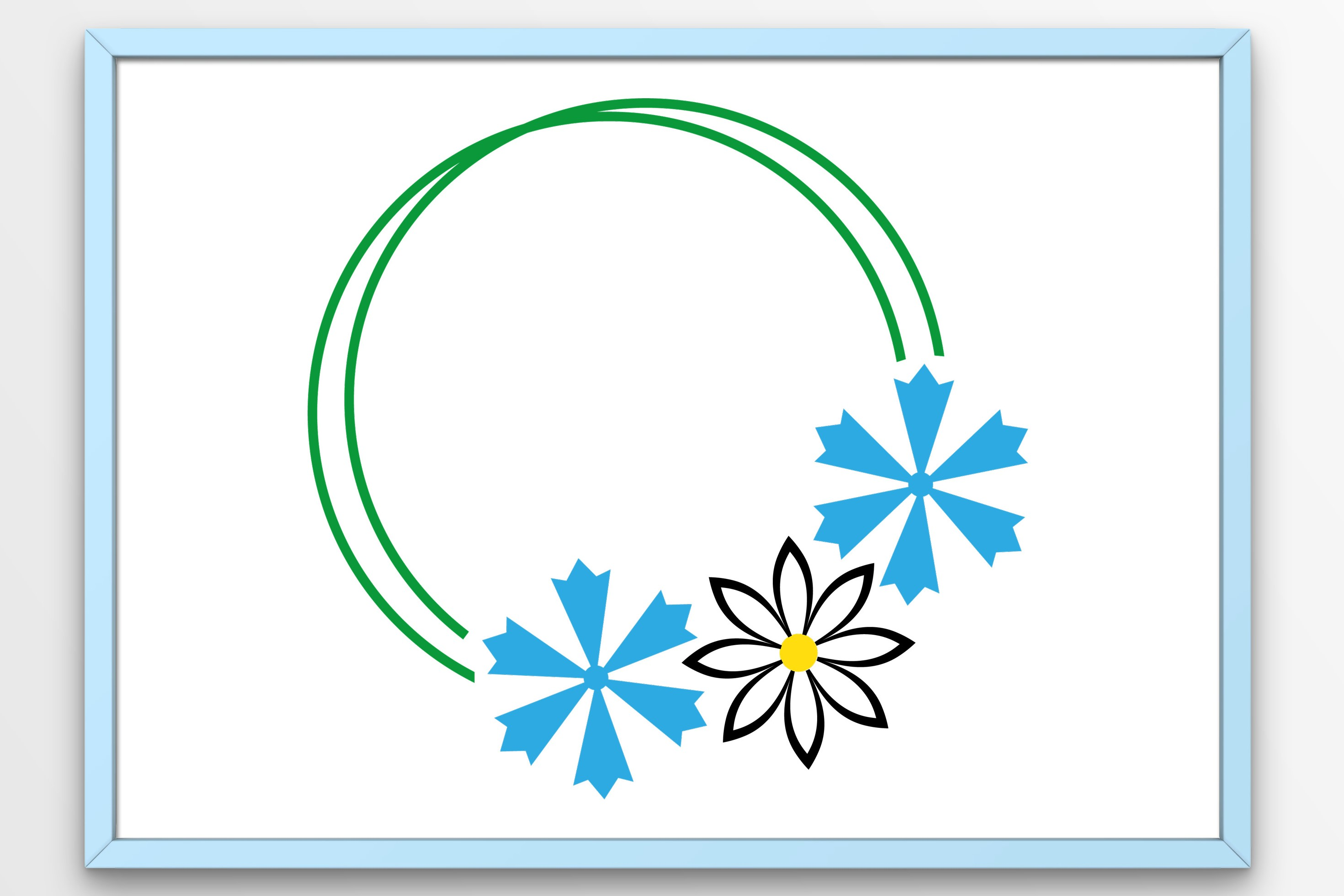 Download Free Flowers Wreath Graphic By Tanja Dianova Creative Fabrica for Cricut Explore, Silhouette and other cutting machines.