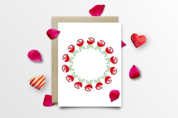 Download Free Flowers Floral Wreath Roses Graphic By Tanja Dianova Creative for Cricut Explore, Silhouette and other cutting machines.