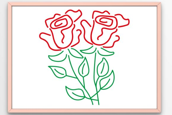 Download Free Flowers Two Roses Graphic By Tanja Dianova Creative Fabrica for Cricut Explore, Silhouette and other cutting machines.