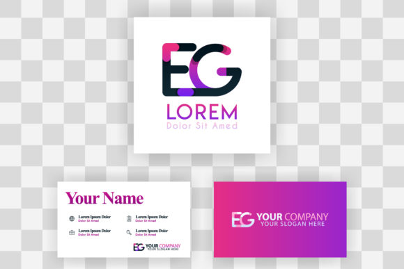 Download Free Ge Letter Logo And Card Template Graphic By Setiawanarief111 for Cricut Explore, Silhouette and other cutting machines.