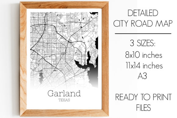 Download Free Garland Texas City Map Graphic By Svgexpress Creative Fabrica for Cricut Explore, Silhouette and other cutting machines.