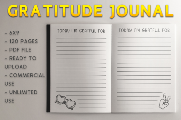 Print on Demand: Gratitude Journal | KDP Template Graphic KDP Interiors By KDP Product