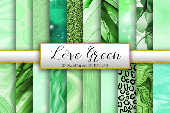 Green Background Digital Papers Graphic Backgrounds By PinkPearly
