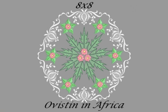 Green & Pink Floral Quilt Block Sewing & Crafts Embroidery Design By Ovistin in Africa