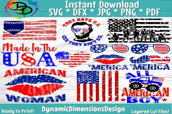 Huge 4th of July Bundle   Graphic Crafts By dynamicdimensions
