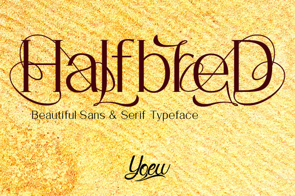 Print on Demand: HalfbreD Decorative Font By YOEW