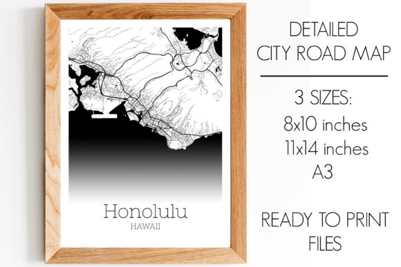 Download Free Honolulu Hawaii City Map Graphic By Svgexpress Creative Fabrica for Cricut Explore, Silhouette and other cutting machines.