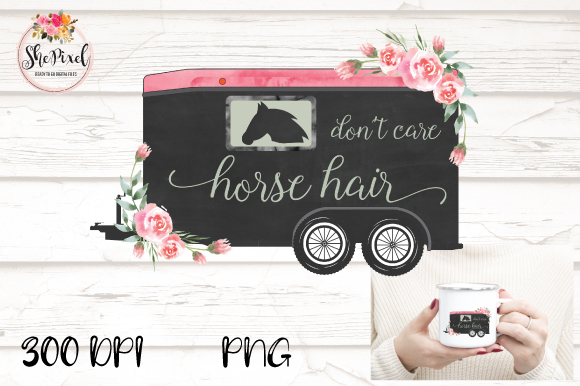 Download Free Horse Trailer Quote Transparent Graphic By Shepixel Creative for Cricut Explore, Silhouette and other cutting machines.
