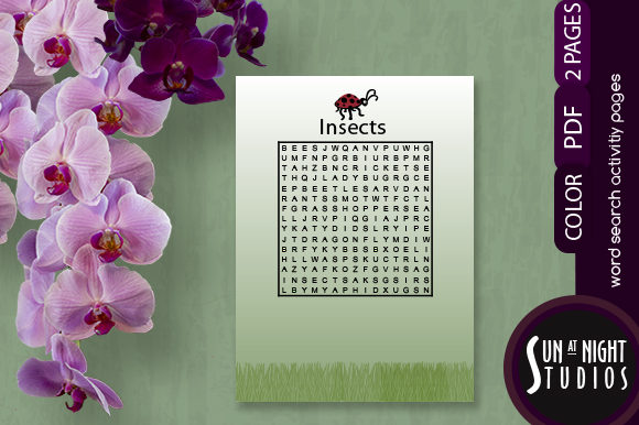 Insects Word Search Activity Graphic Teaching Materials By Sun At Night Studios
