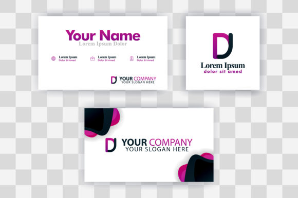 Download Free Jd Letter Logo Business Card Template Graphic By for Cricut Explore, Silhouette and other cutting machines.