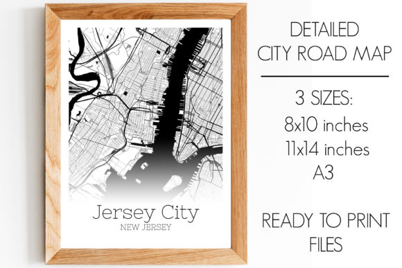 Download Free Jersey City New Jersey City Map Graphic By Svgexpress Creative for Cricut Explore, Silhouette and other cutting machines.