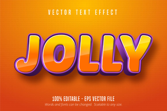 Print on Demand: Jolly Text, 3D Editable Text Effect Graphic Graphic Templates By Mustafa Bekşen