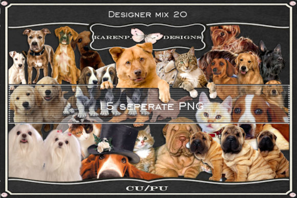Download Free Designer Mix 20 Graphic By Karenp Designs Creative Fabrica for Cricut Explore, Silhouette and other cutting machines.