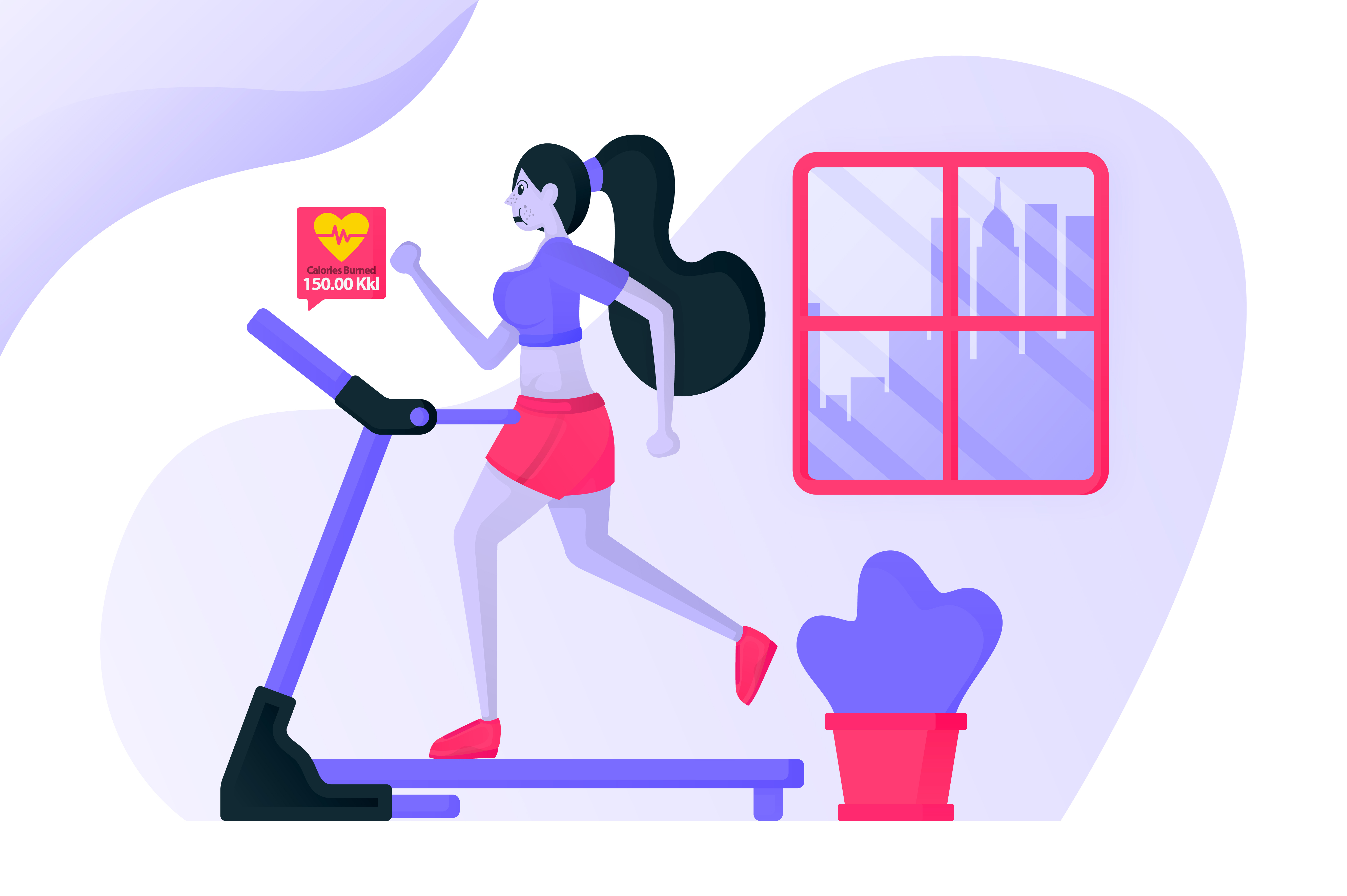 Download Free Landing Page Of Exercise On Treadmill Graphic By for Cricut Explore, Silhouette and other cutting machines.