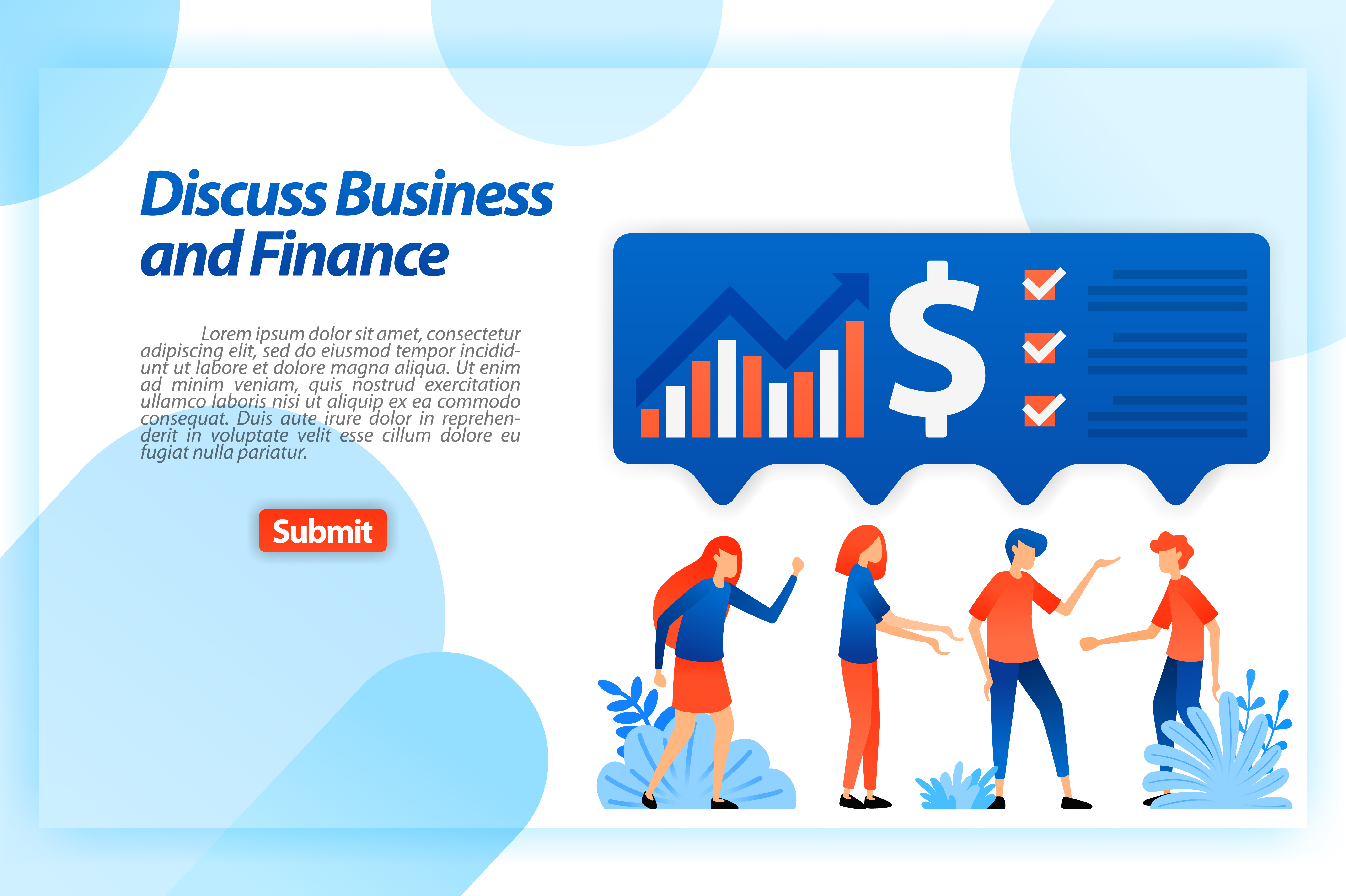 Download Free Landing Page Of Financial Business Graphic By Setiawanarief111 for Cricut Explore, Silhouette and other cutting machines.