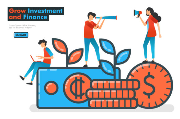 Download Free Landing Page Of Grow Investment Graphic By Setiawanarief111 for Cricut Explore, Silhouette and other cutting machines.