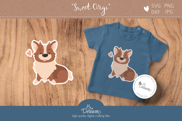 Download Free Layered Sweet Corgi Graphic By Byderowen Creative Fabrica for Cricut Explore, Silhouette and other cutting machines.